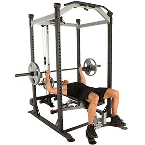 Fitness Reality X-Class Light Commercial High Capacity Olympic Power Cage, Without Lat Pull-Down Attachment - FitnessGearUSA.Com