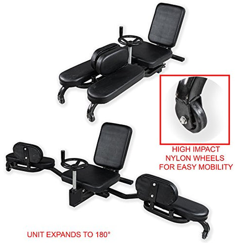 Image of Valor Fitness CA-27 Leg Stretcher & Split Machine Flexibility Trainer for Yoga and Martial Arts Training Equipment - Extends Over 180 Degrees - FitnessGearUSA.Com
