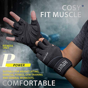 SIMARI Workout Gloves Men Women Full Finger Weight Lifting Gloves with Wrist Support for Gym Exercise Fitness Training Lifts Made of Microfiber and Spandex Fiber SMRG902 - Fitness Gear
