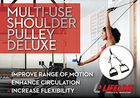 Image of Lifeline Multi-Use Shoulder Pulley Deluxe for Assisting Rehabilitation and Increasing Flexibility - Fitness Gear
