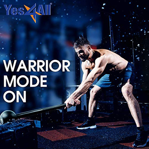 Image of Yes4All Steel Mace Bell for Strength Training, Shoulder, Grips & Forearms Workouts - 5 lb Macebell, Black - FitnessGearUSA.Com