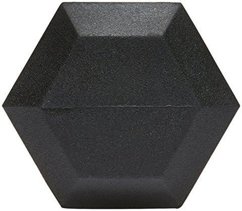 AmazonBasics Rubber Encased Hex Dumbbell Weight - 14.2 x 6.5 x 5.8 Inches, 45 Pounds, Pack of 1