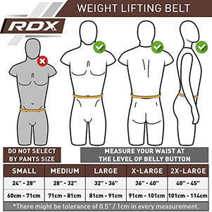 RDX Weight Lifting Belt for Fitness Gym-Adjustable Leather Belt with 6 inch Padded Lumbar Back Support - Great for Bodybuilding, Functional Training, Powerlifting, Deadlifts Workout & Squats Exercise - Fitness Gear