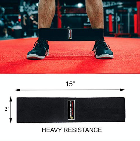 Image of Formula Fitness Fabric Resistance Bands For Working Out Legs & Butt | Resistance Bands For Women & Men | Heavy Duty Non Slip Exercise Band For Squat Glute Workout | Loop Booty Band Set Resistance Band - FitnessGearUSA.Com