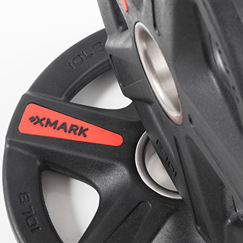 Image of XMark Texas Star 95 lb Set Olympic Plates, Patented Design, One-Year Warranty, Olympic Weight Plates