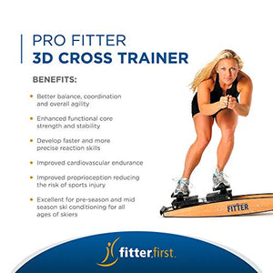 Fitterfirst Pro Fitter 3D Cross Trainer and Downhill Ski Trainer - FitnessGearUSA.Com