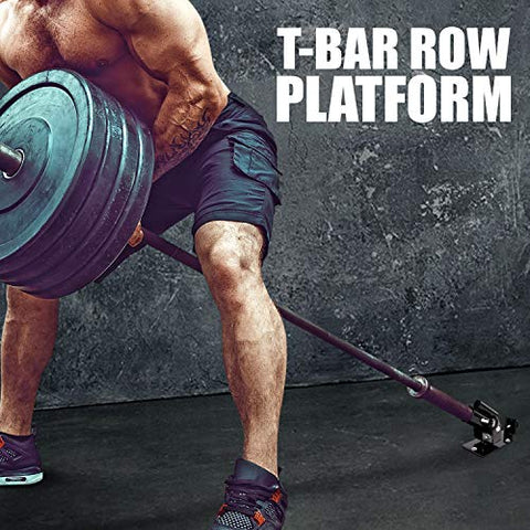 "Image of Yes4All Deluxe T-Bar Row Platform – Full 360° Swivel & Easy to Install – Fits 1"" Standard and 2"" Olympic Bars - Fitness Gear"