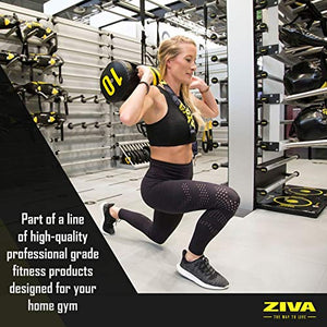 "ZIVA Power Core Bag - Pre-Weighted Heavy Duty Commercial Grade Exercise Sandbags with Non-Slip Handles - Multiple Sizes - Home Gym Weight Training Crossfit Workouts - 20lb, 24"" L x 9.0"" D - FitnessGearUSA.Com"