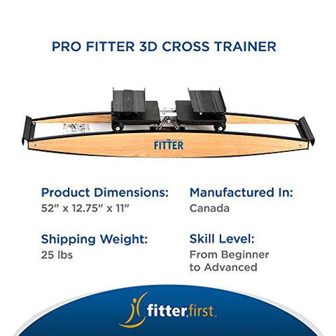 Image of Fitterfirst Pro Fitter 3D Cross Trainer and Downhill Ski Trainer - FitnessGearUSA.Com