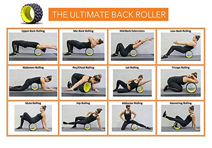 The Ultimate Back Roller : Acumobility, myofascial Release, Trigger Point, Yoga Wheel, Foam Roller, Back Pain, Yoga Wheel for Back Pain, Back Massager, deep Tissue, Massage, Exercise, Mobility - Fitness Gear