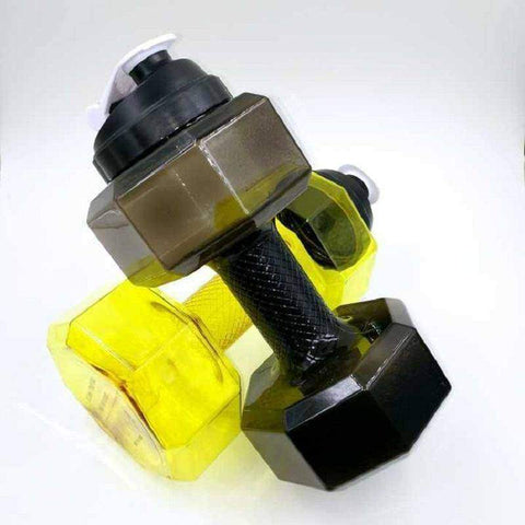 Image of 2.5L Dumbbells Shaped Plastic Big Large Capacity Gym Sports Water Bottle - Fitness Gear