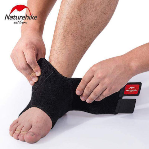Image of Black Adjustable Ankle Support Pad Protection 1 pc - Fitness Gear