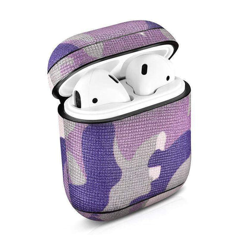 Image of Camouflage Leather Case For Apple Airpods Airpod Dust-proof Protective Cover - FitnessGearUSA.Com