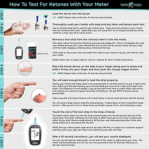 Image of Keto-Mojo 50 Blood Ketone Test Strips, Precision Measurement for Diabetes & Low-Carb Weight Loss, Monitor Your Diabetic & Ketogenic Diet for Nutritional Ketosis, Strips Work Only in Keto-Mojo Meters - Fitness Gear