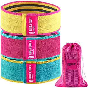Bubble Booty Bands Resistance Bands for Legs and Butt Fitness Squat Bands Exercise Bands Hip Thigh Glute Bands Non Slip Fabric Loop Bands Leg Bands Exercises (Multicolor) - FitnessGearUSA.Com
