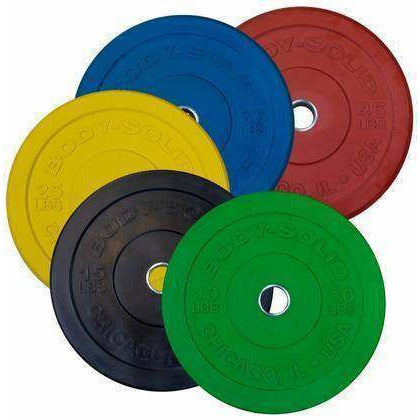 260LB BUMPER SET COLORS, PAIRS 10,15,25,35,45,  Full Commercial - Fitness Gear