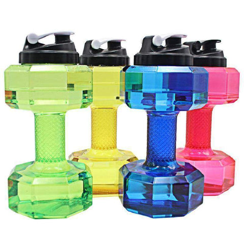 Image of 2.5L Dumbbells Shaped Plastic Big Large Capacity Gym Sports Water Bottle
