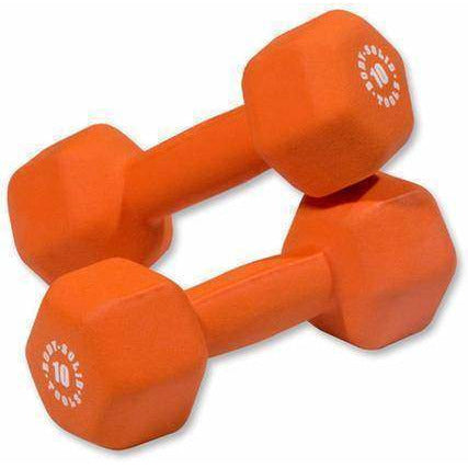 Image of Neoprene Dumbbell set, 1-15lbs pairs - Fitness Gear
