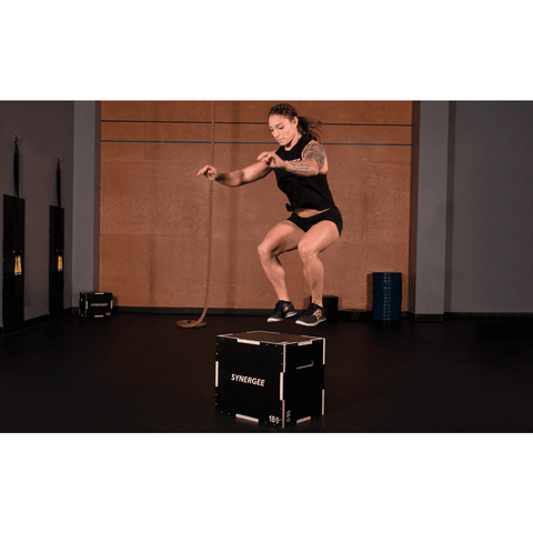 Image of SYNERGEE NON-SLIP 3-IN-1 WOOD PLYO BOXES - Fitness Gear