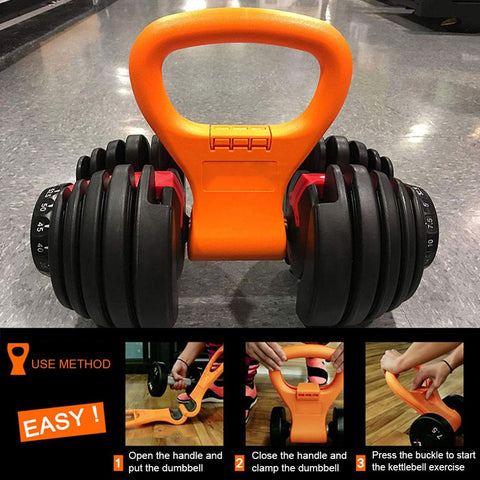 Dumbbell Clip Fitness Training Handle Accessories Portable Flexible Indoor Fitness Dumbbell Handle Sports Equipment - Fitness Gear