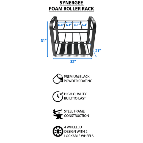 Foam Roller / Yoga Mat Rack - Fitness Gear
