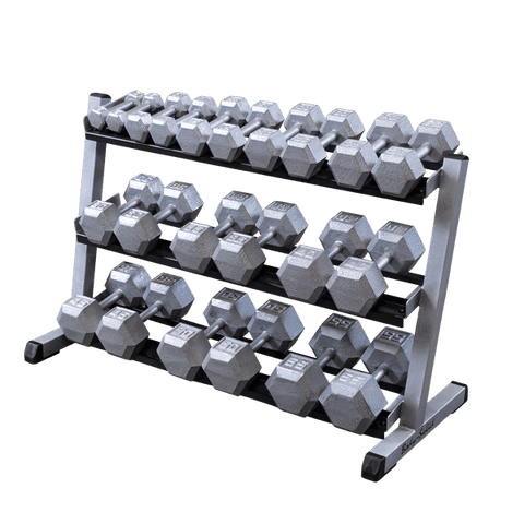 "48"" 3-Tier Dumbbell Rack - Fitness Gear"