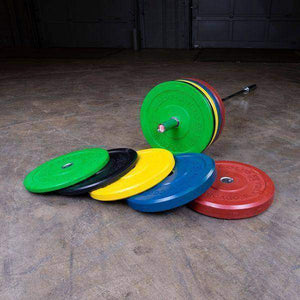"10LB Chicago Extreme Bumper Plate, 17.72"", FULL COMMERCIAL (Green) - Fitness Gear"
