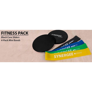 Synergee Core Sliders with Mini Bands - BLACK