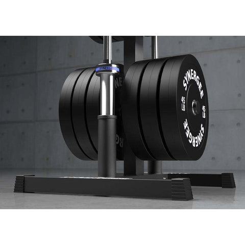 Image of Olympic Weight Plate & Barbell Holder - Fitness Gear