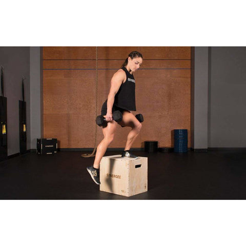 Image of Synergee 3-in-1 Wood Plyo Box - Fitness Gear