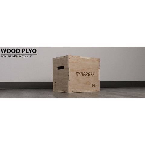 Image of Synergee 3-in-1 Wood Plyo Box - FitnessGearUSA.Com