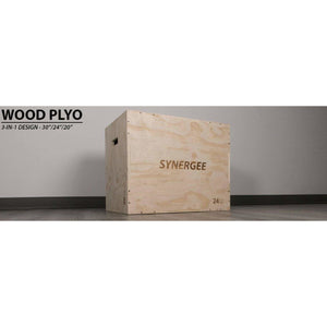 Synergee 3-in-1 Wood Plyo Box - FitnessGearUSA.Com