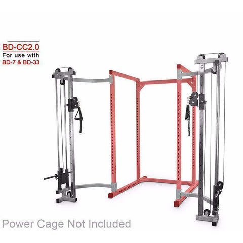 "Image of Valor Fitness BD-CC2.0 Cage Cable Crossover Attachment 2.0"" Frame - Fitness Gear"