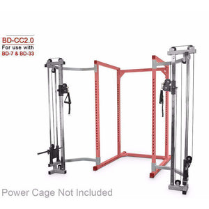 "Valor Fitness BD-CC2.0 Cage Cable Crossover Attachment 2.0"" Frame - Fitness Gear"