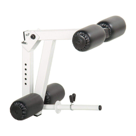 Image of XMark Universal 11-Gauge Adjustable Leg Curl / Extension Attachment  XM-7455-WHITE - FitnessGearUSA.Com