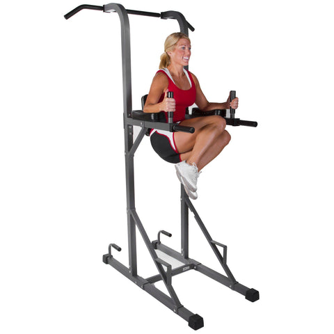Image of XMark Power Tower with Dip Station and Pull Up Bar XM-4434 - Fitness Gear