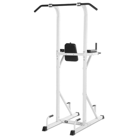 Image of Back - XMark Power Tower With Dip Station And Pull Up Bar XM-4434-WHITE