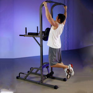 XMark VKR Vertical Knee Raise with Dip and Pull-up Station Power Tower XM-4432 - Fitness Gear
