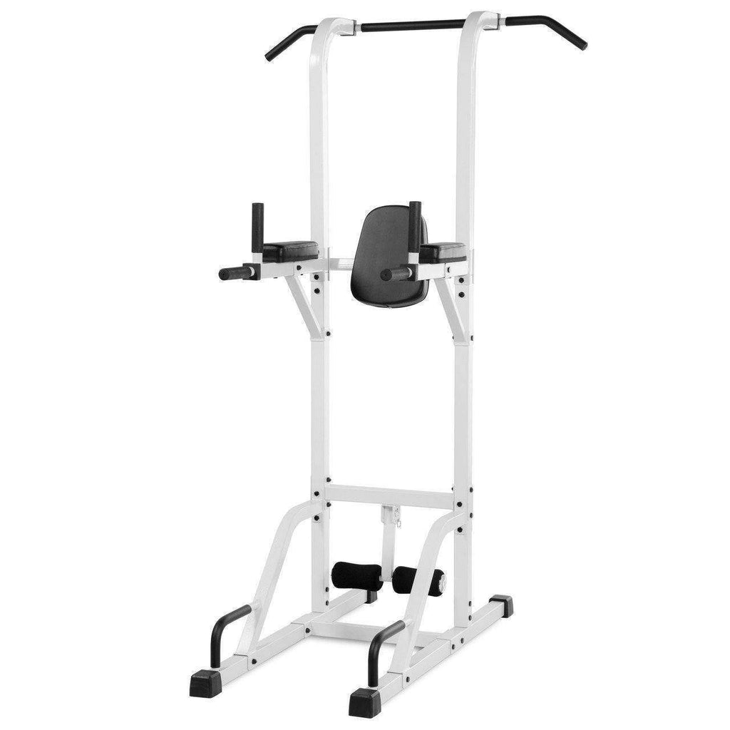 Back - XMark VKR Vertical Knee Raise With Dip And Pull-up Station Power Tower XM-4432-WHITE