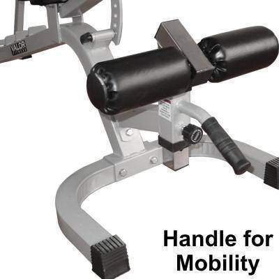 Valor Fitness DD-25 Adjustable Utility Bench FID W/Wheels - Fitness Gear