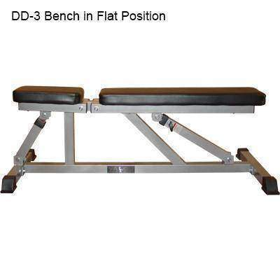 Image of Valor Fitness DD-3 Incline/Flat Utility Bench - Fitness Gear