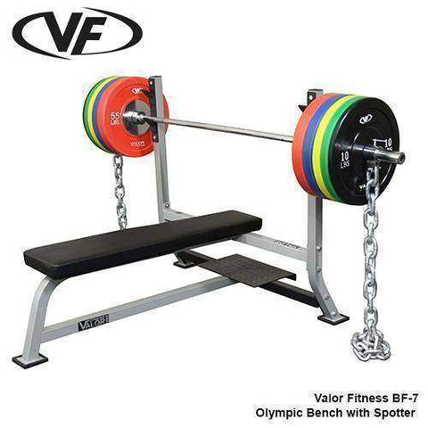 Image of Valor Fitness Olympic Bench w/ Spotter - Fitness Gear