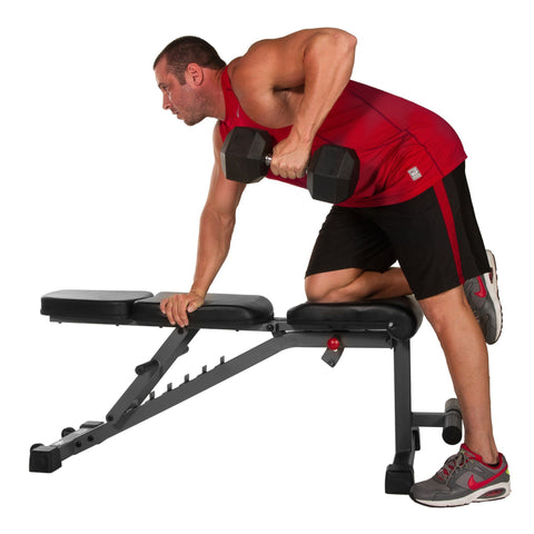 Image of XMark Adjustable FID Flat Incline Decline Dumbbell Bench XM-4440 - Fitness Gear
