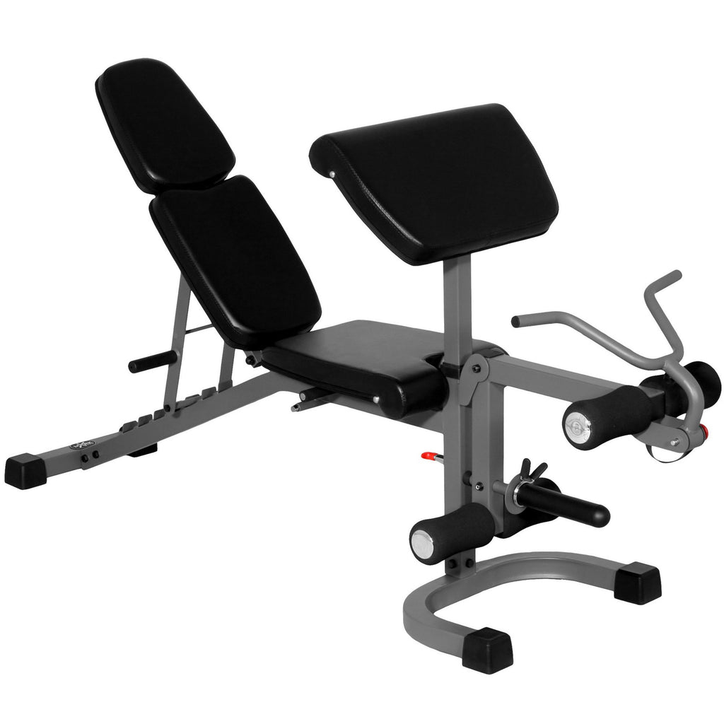 Bench - XMark FID Flat Incline Decline Weight Bench With Arm Curl And Leg Developer XM-4418