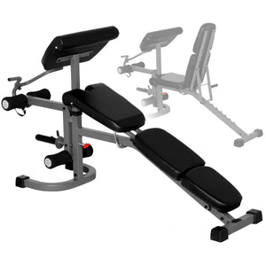 XMark FID Flat Incline Decline Weight Bench with Arm Curl and Leg Developer XM-4418 - Fitness Gear