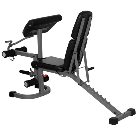 Image of XMark FID Flat Incline Decline Weight Bench with Arm Curl and Leg Developer XM-4418 - Fitness Gear