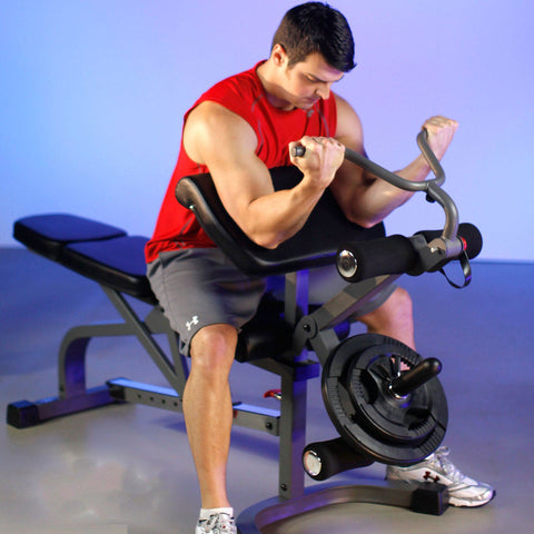 Image of Bench - XMark FID Flat Incline Decline Weight Bench With Leg Extension And Preacher Curl XM-4419