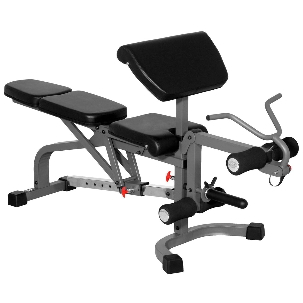 Bench - XMark FID Flat Incline Decline Weight Bench With Leg Extension And Preacher Curl XM-4419