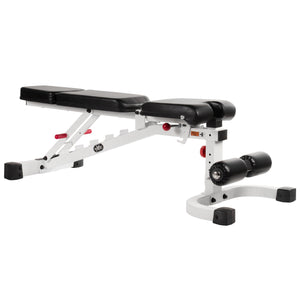 XMark FID Flat Incline Decline Weight Bench XM-7604-WHITE - FitnessGearUSA.Com