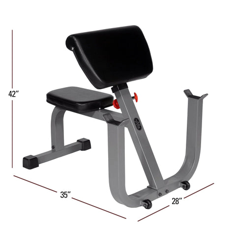 Image of XMark Seated Preacher Curl Weight Bench XM-4436 - Fitness Gear